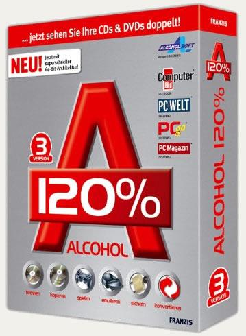 العملاق Alcohol 120% 2.0.3.7612 لحرق وتعديل الاسطوانات والدرايفات الوهمية